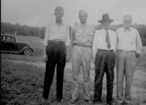 Lovelace, Joseph Baxter and 3 sons, c1945