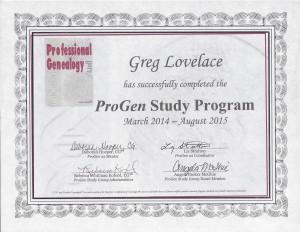 ProGen Certificate