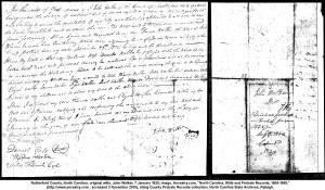 Walker, John, will 18200107